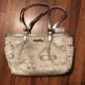 Coach silver bag